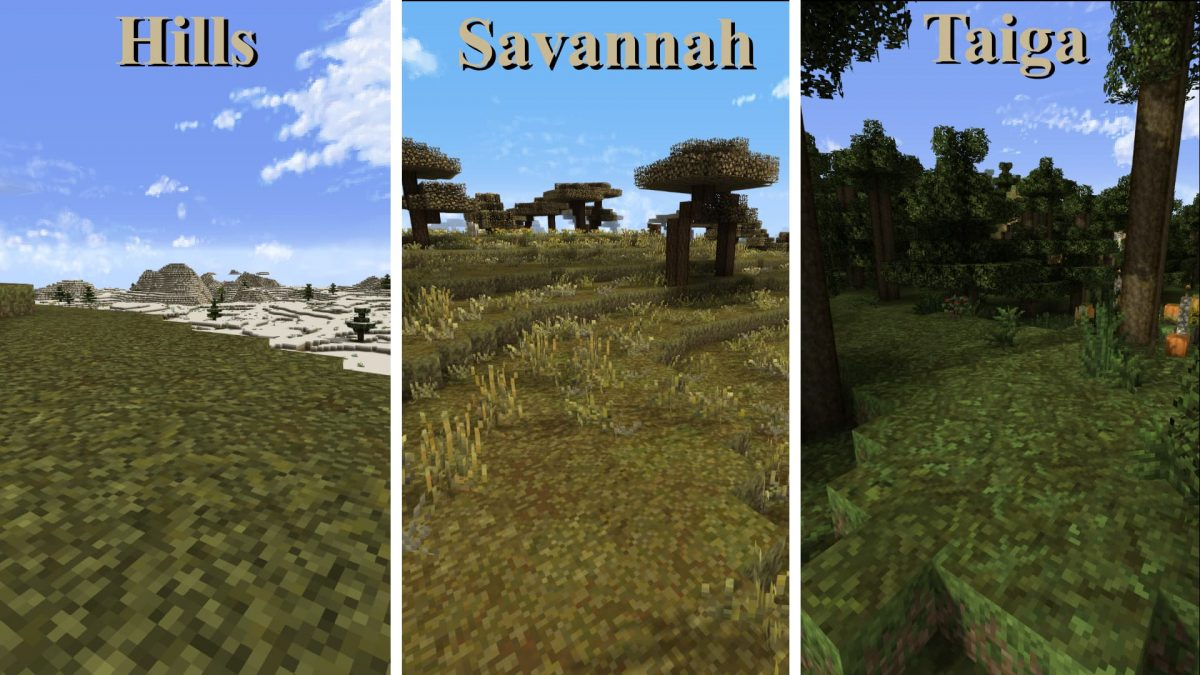 Thine Explorer's Pack Revival – Pack de Textures : l'herbe des biomes