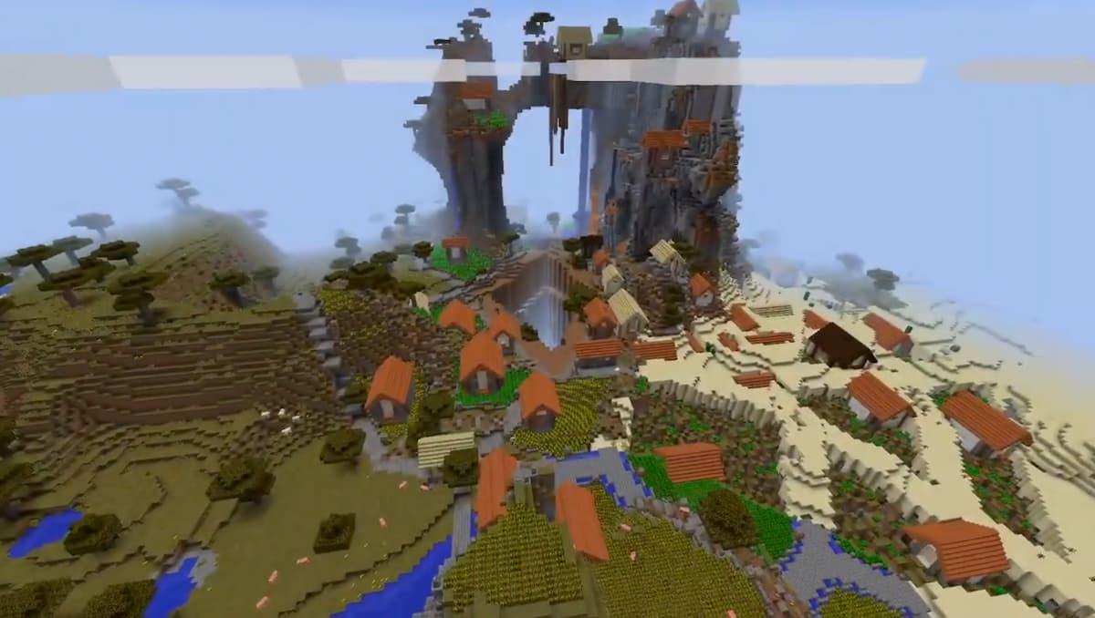 Une ville créée dans Minecraft à l'aide d'une IA.