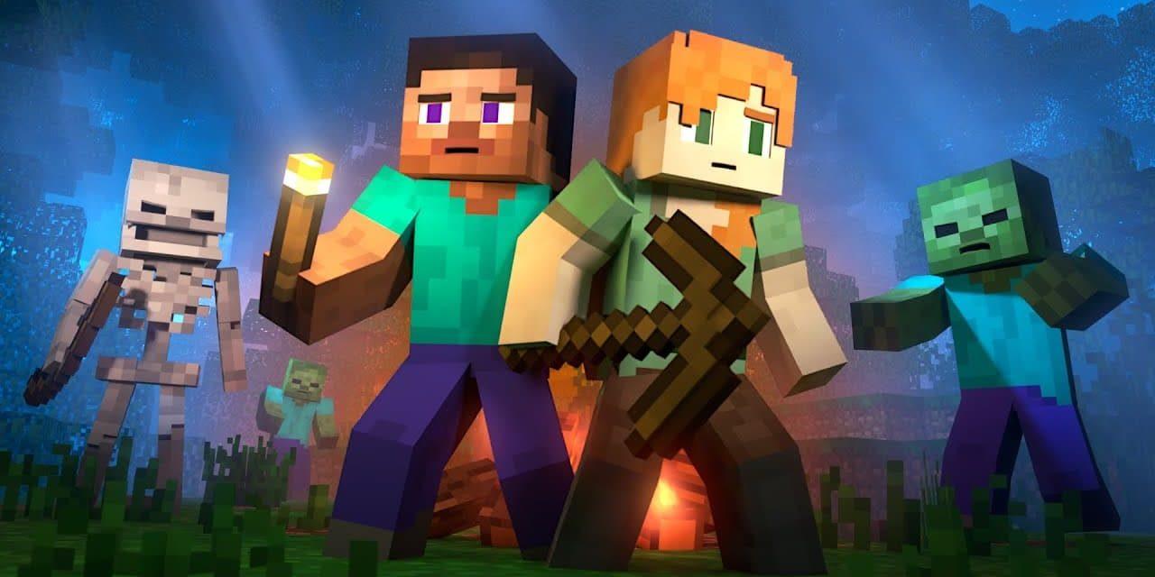 Alex et Steve tentent de survivre à leur première nuit dans Minecraft – Animation Minecraft