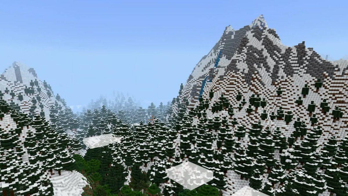 Le biome montagne dans Minecraft 1.17