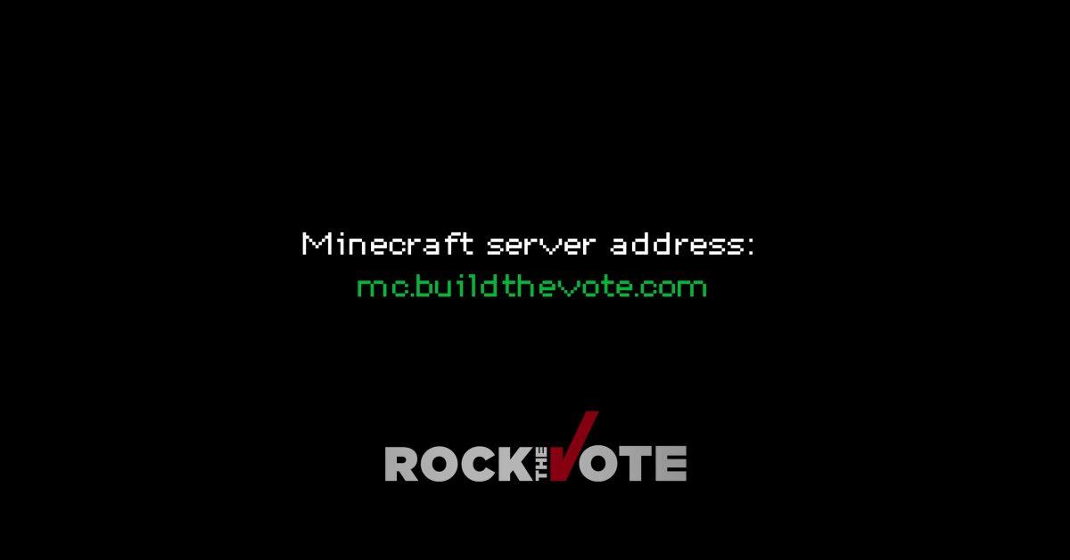 Adresse du serveur : mc.buildthevote.com