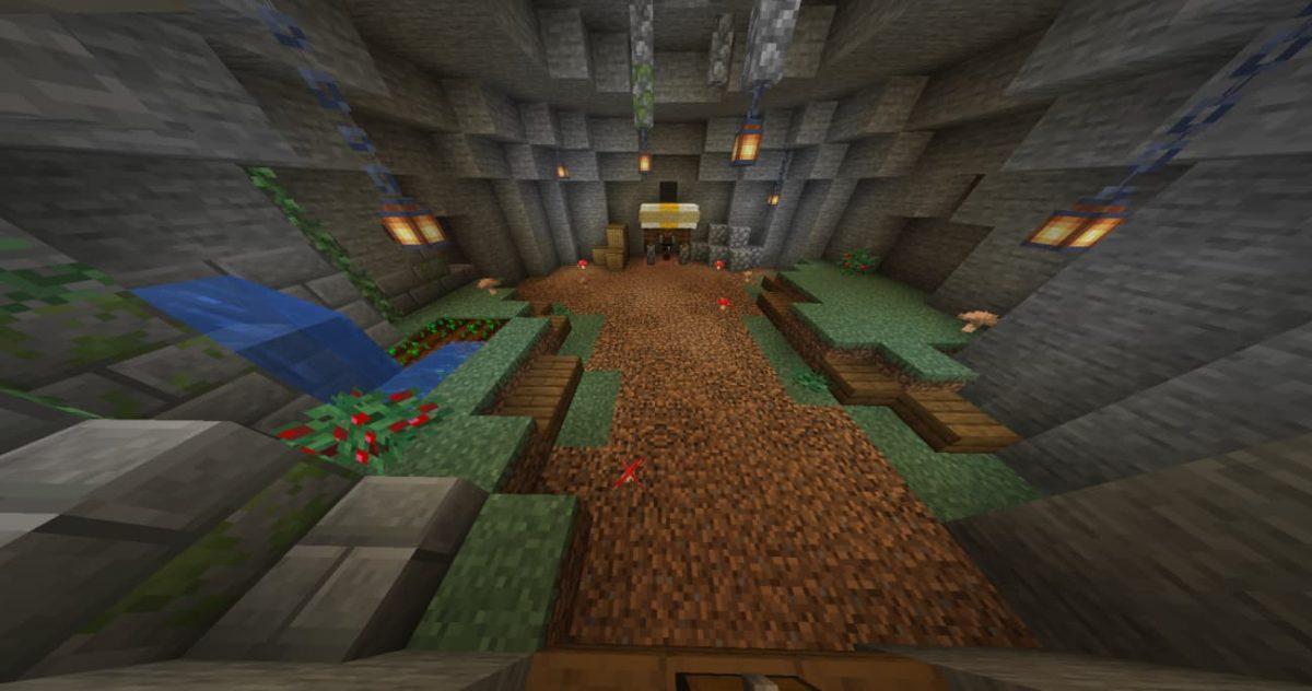 Caveblock Map Minecraft : le lieu de spawn