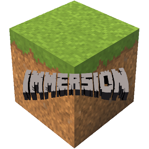 logo Immersion pack de texture minecraft