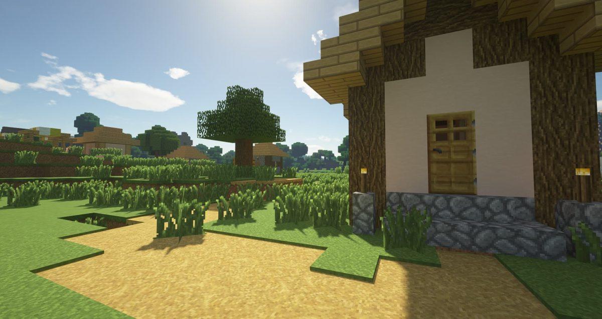 Immersion - Pack de textures : jardin et herbe dans un village