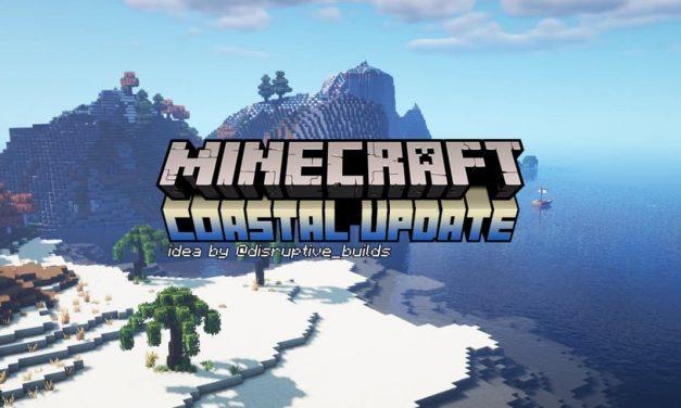 Le trailer d'une hypothétique mise à jour des côtes et du littoral de Minecraft