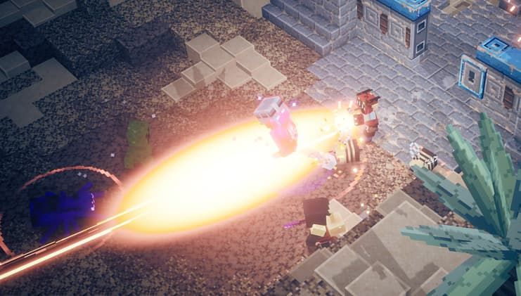 Minecraft dungeons halloween : attaque