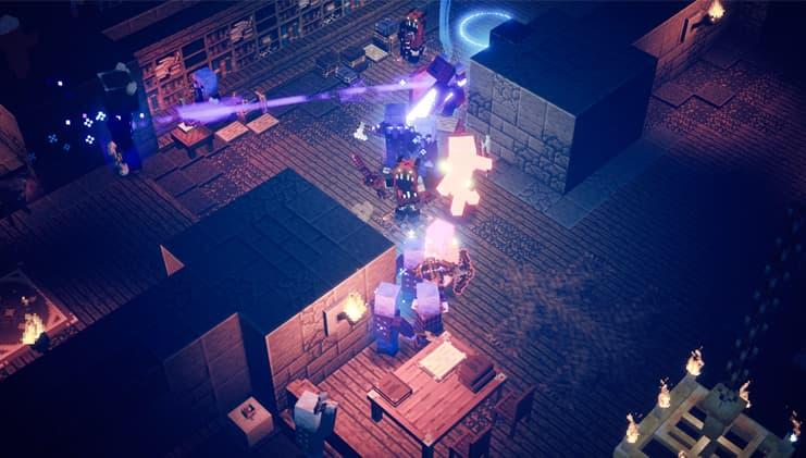 Minecraft dungeons halloween : combat
