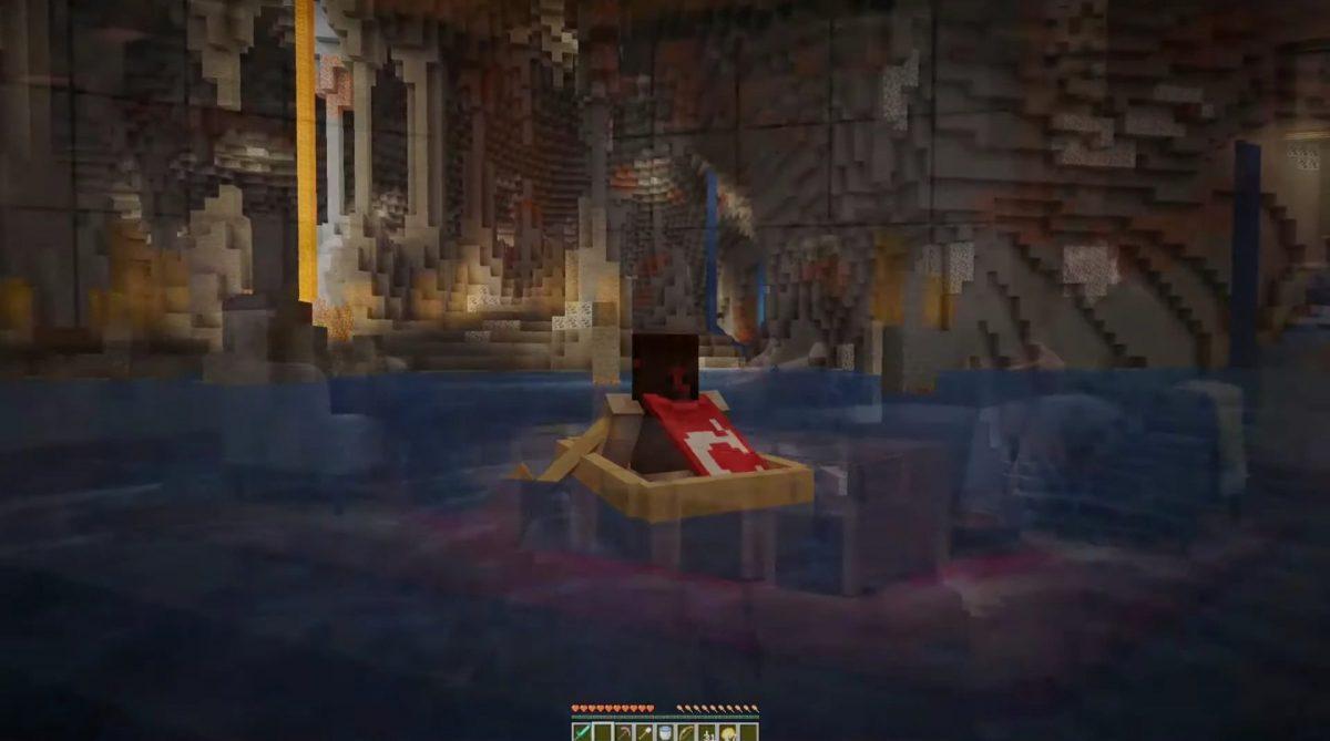 Une magnifique caverne dans Minecraft 1.17
