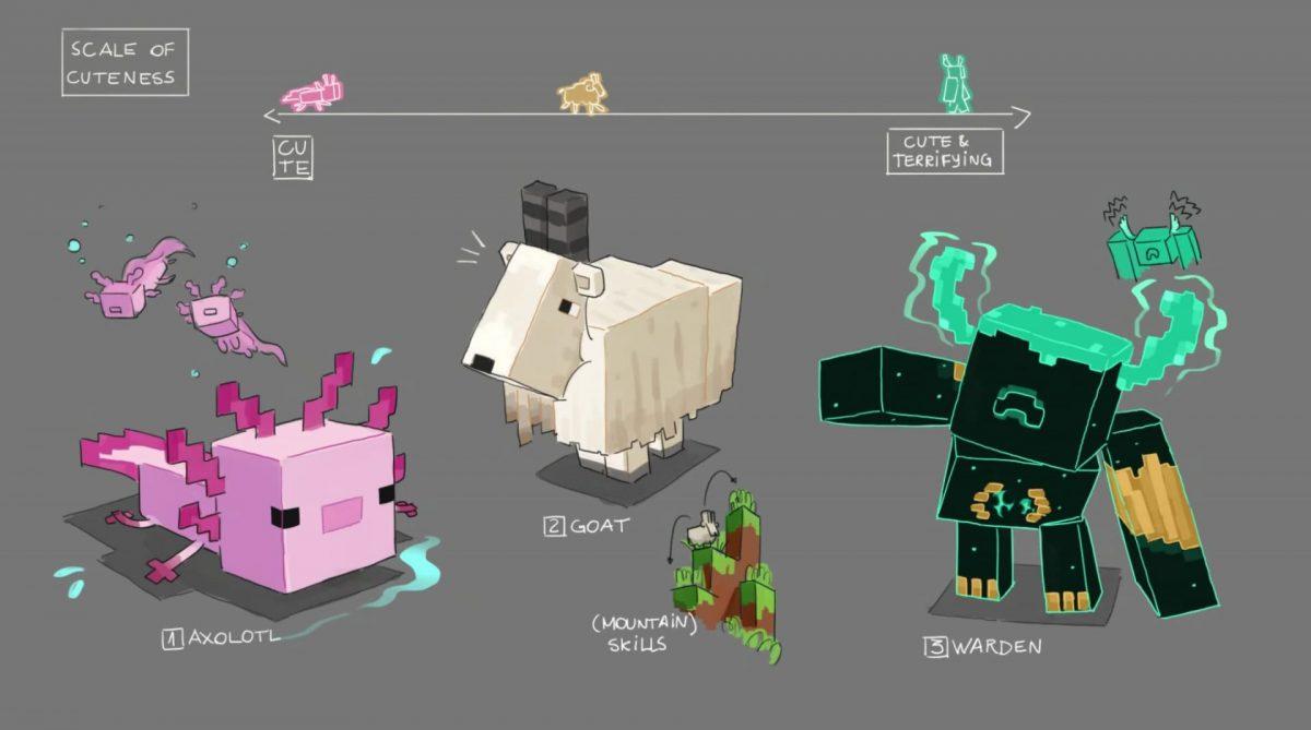 3 nouvelles créatures dans Minecraft 1.17