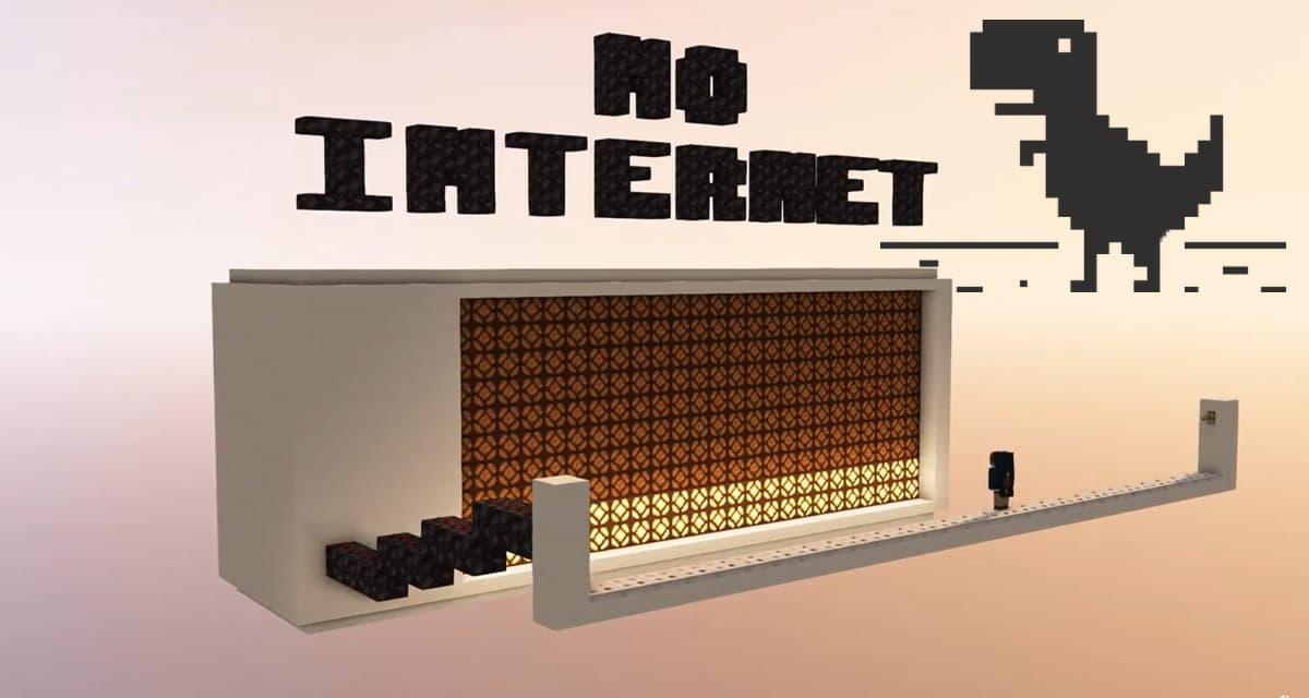 Chrome Dino : le jeu dans le navigateur quand vous n'avez pas internet reproduit dans Minecraft