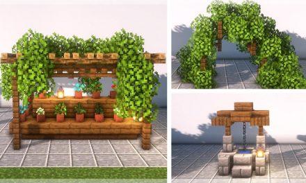 30 astuces de build / décoration de jardin dans Minecraft