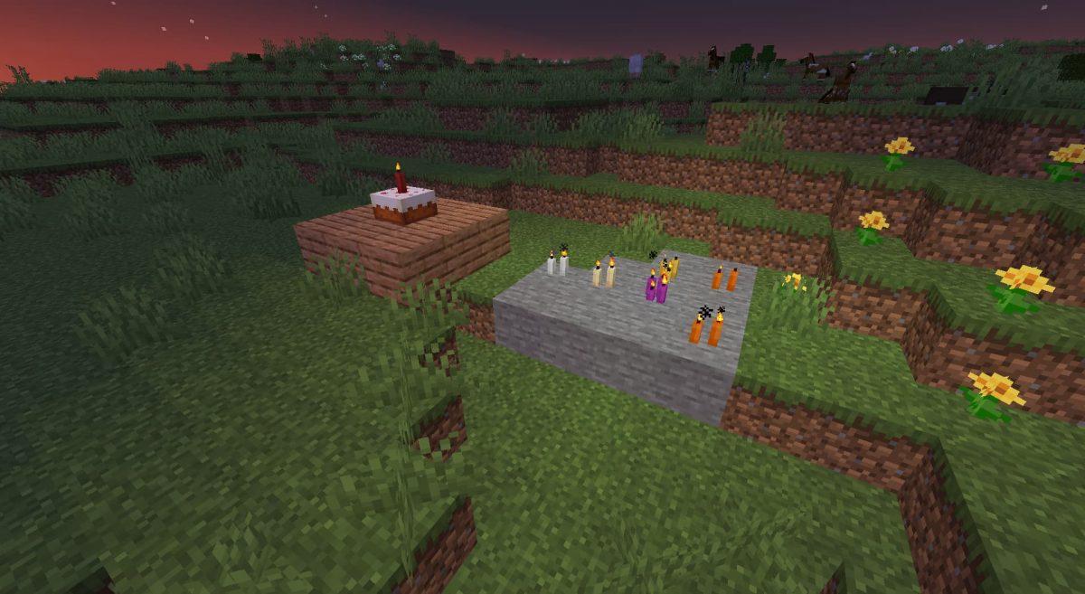 bougies minecraft