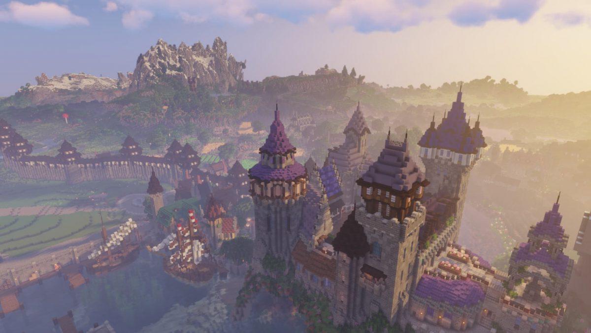 BwW Texturepack : un château dans Minecraft