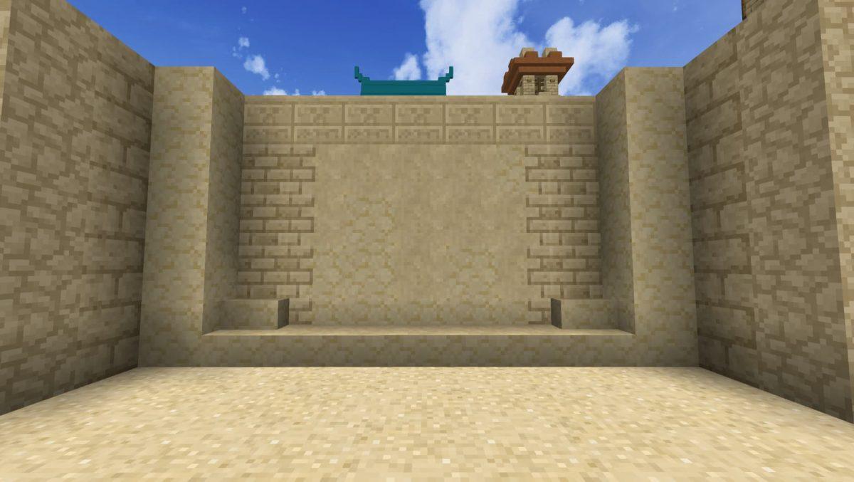 La texture du sable du BwW texturepack