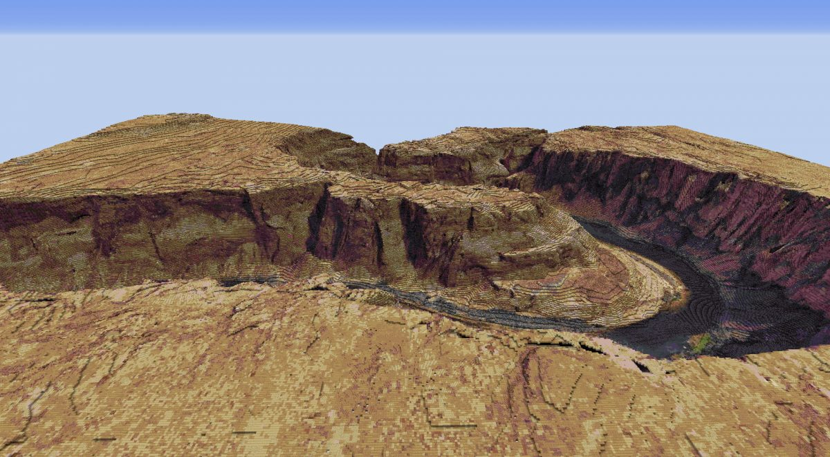 Horseshoe Bend, Arizona dans Minecraft
