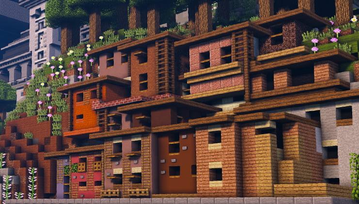 Les maisons qui constituent le bidonville.
