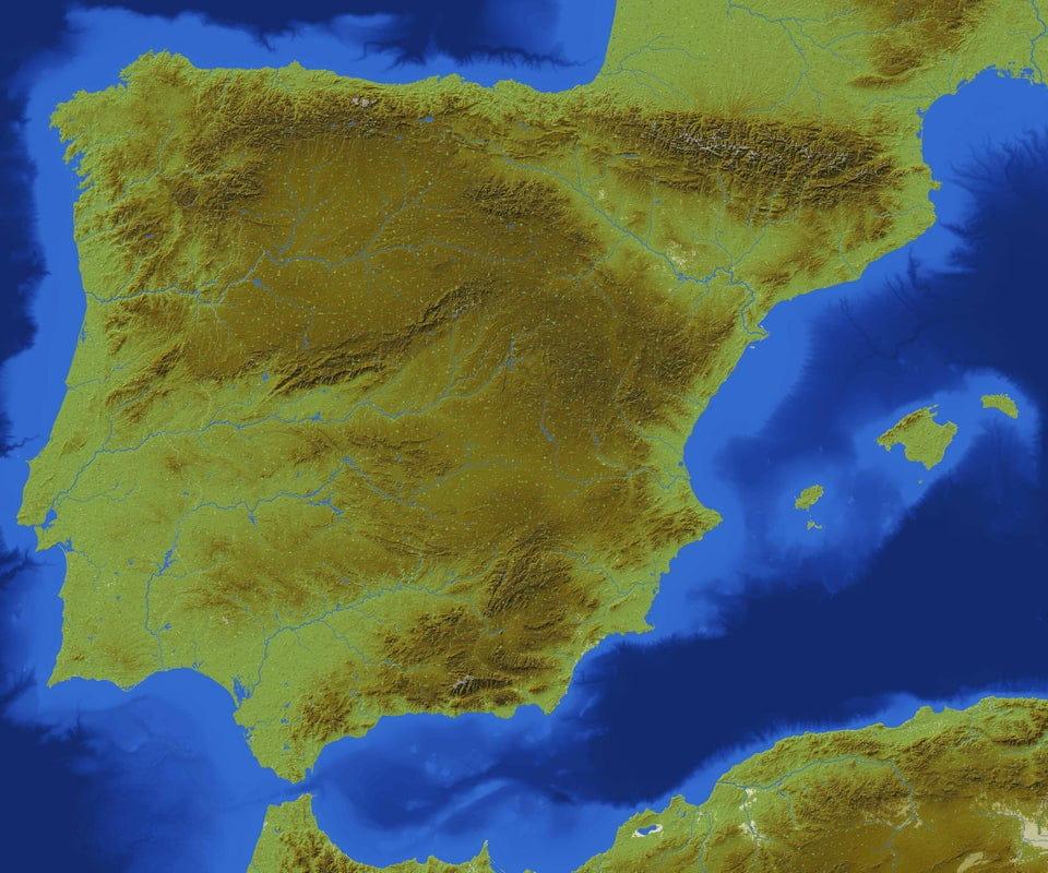 L'Espagne reproduite dans une map Minecraft