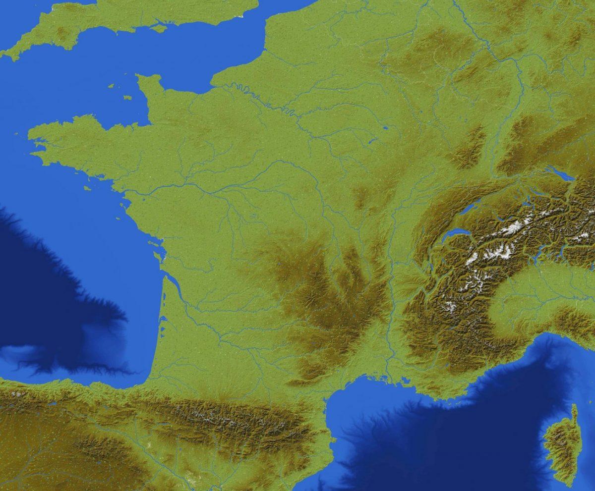 La France reproduite dans une map Minecraft