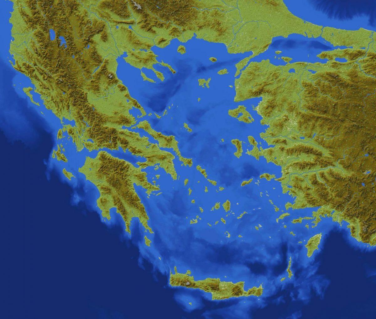 La Grèce reproduite dans une map Minecraft