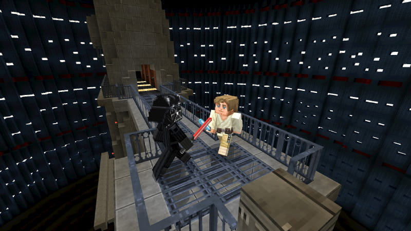 DCL Minecraft Star Wars : Dark Vador contre Luke Skywalker