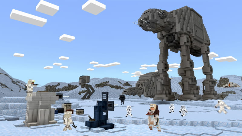 DCL Minecraft Star Wars : planète Hoth
