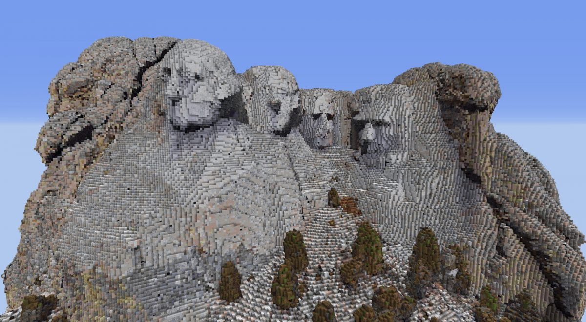 Mount Rushmore, South Dakota dans Minecraft