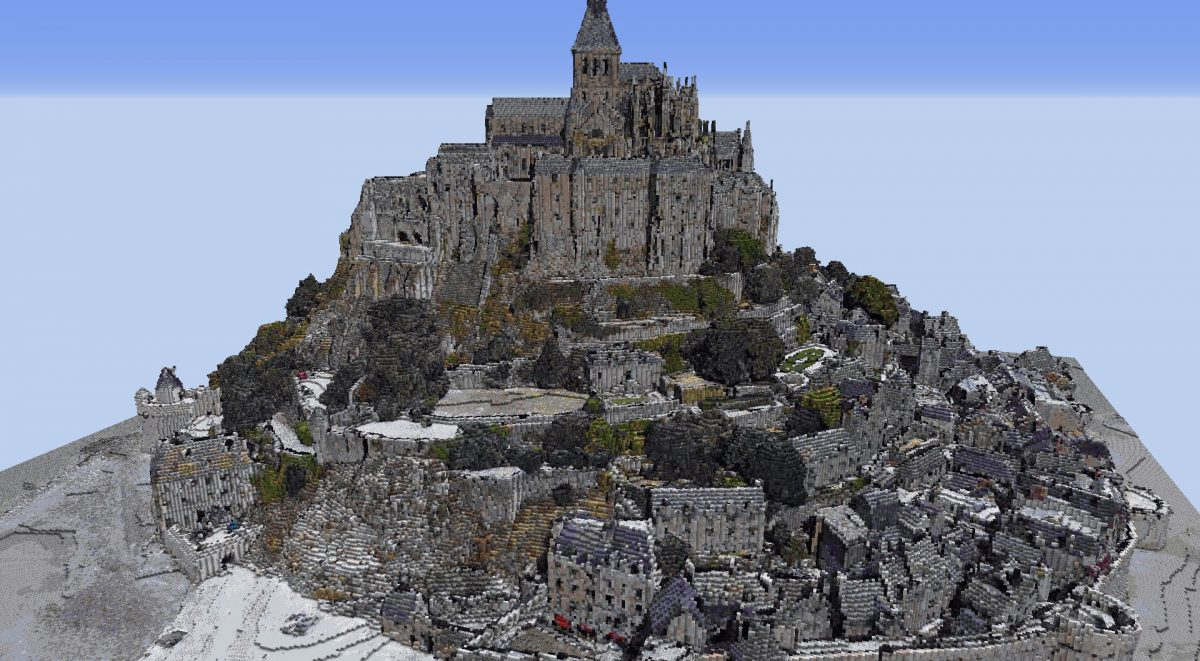 Mont Saint-Michel, France dans Minecraft