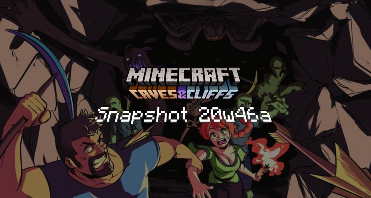 Snapshot 20w46a – Minecraft 1.17 : découvrez la poudreuse !