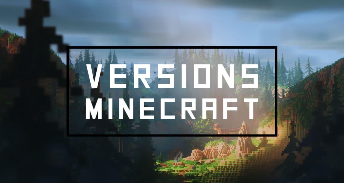 versions minecraft