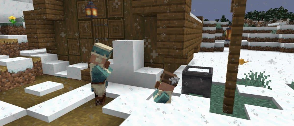 Un villageois dans la poudreuse