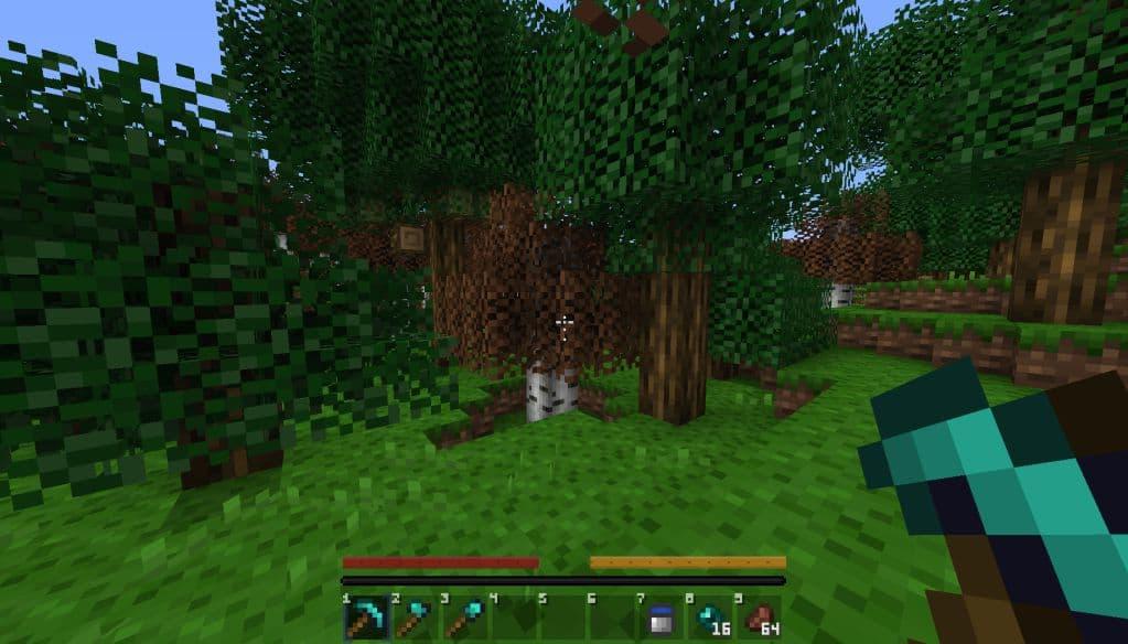 ByteCraft : dans la forêts