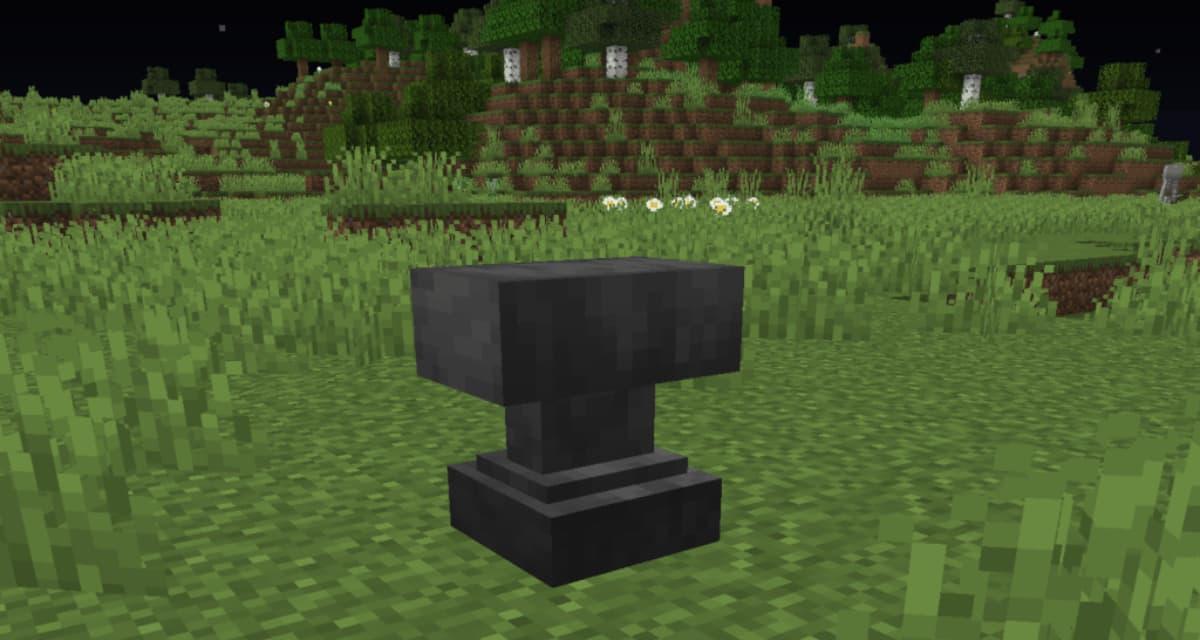 Comment faire et utiliser une enclume dans Minecraft ?