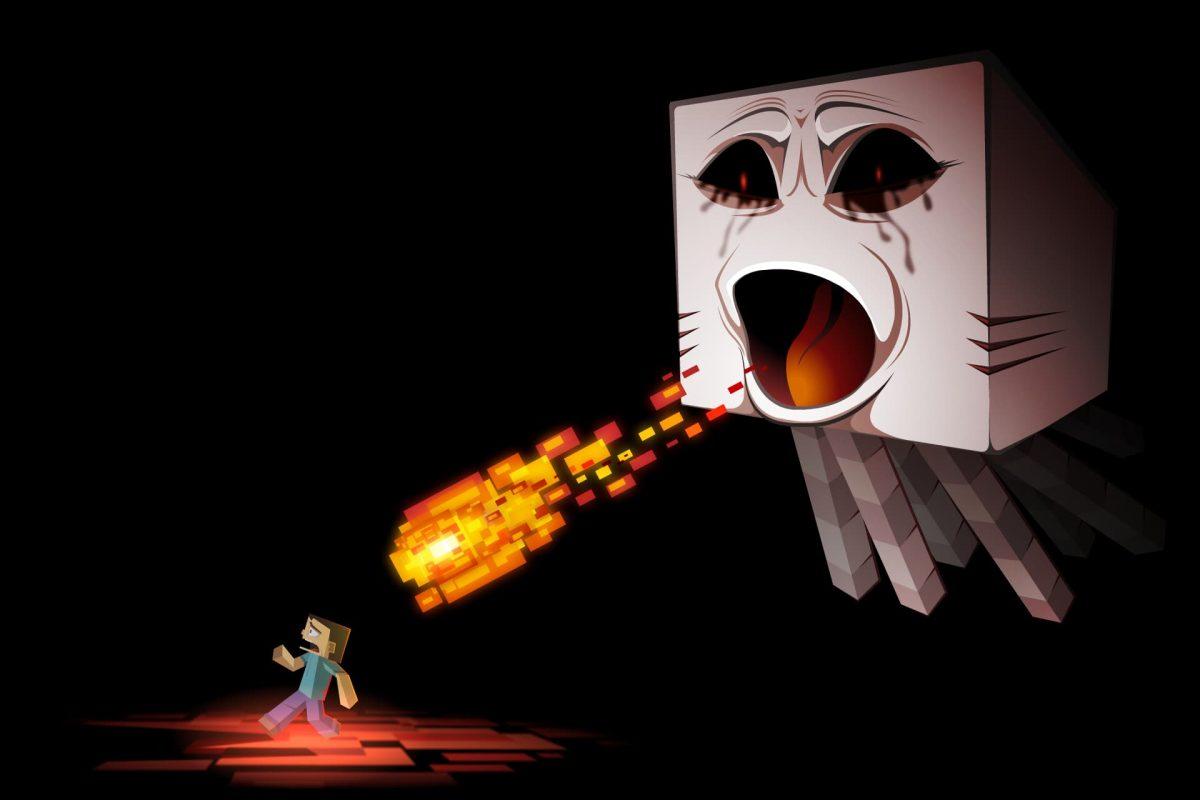 Fond d'écran Minecraft : un ghast