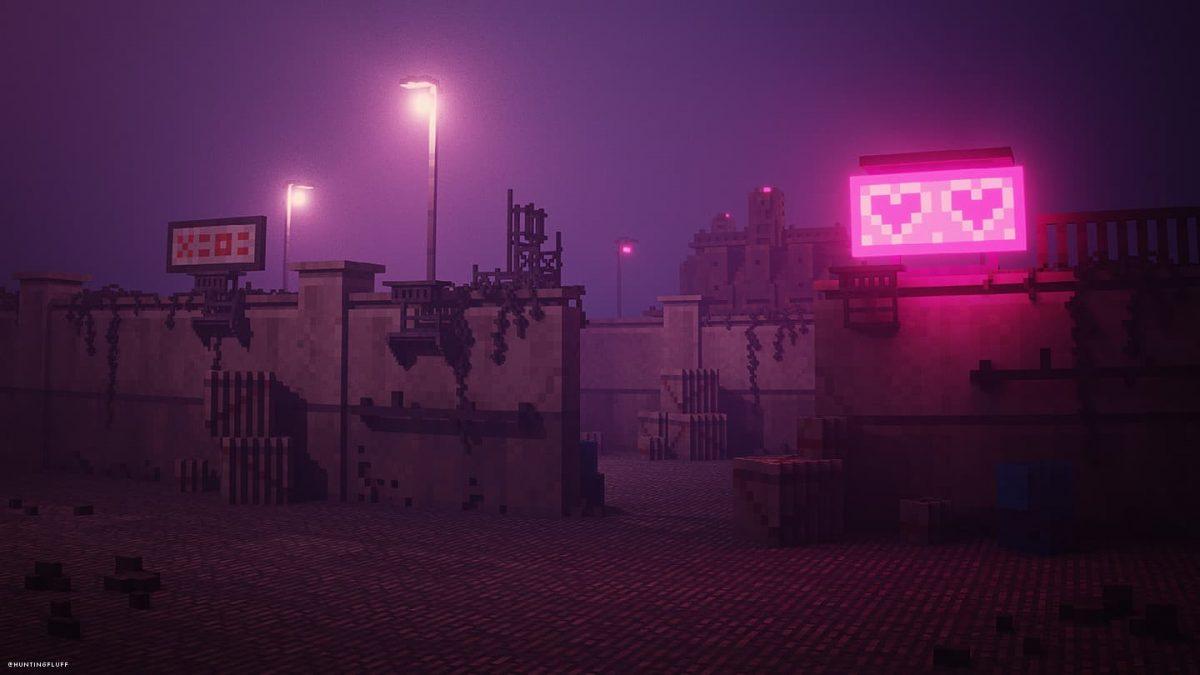 Fond d'écran Minecraft : néon