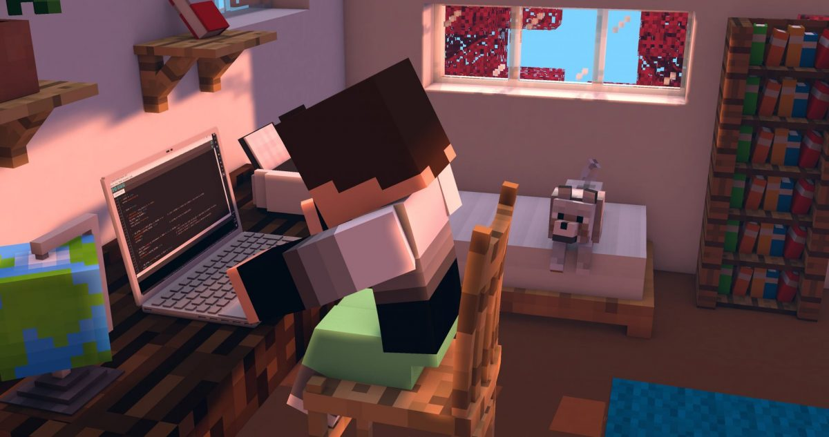 Fond d'écran Minecraft : Programmation tranquille