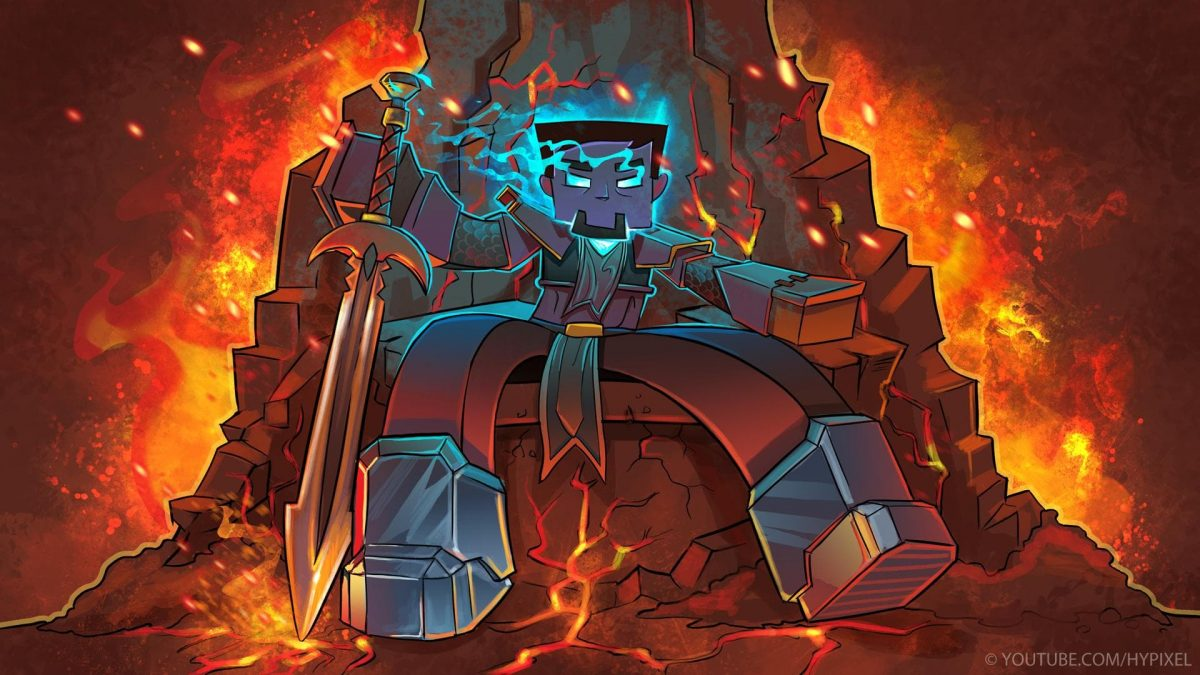 Fond d'écran Minecraft : roi herobrine