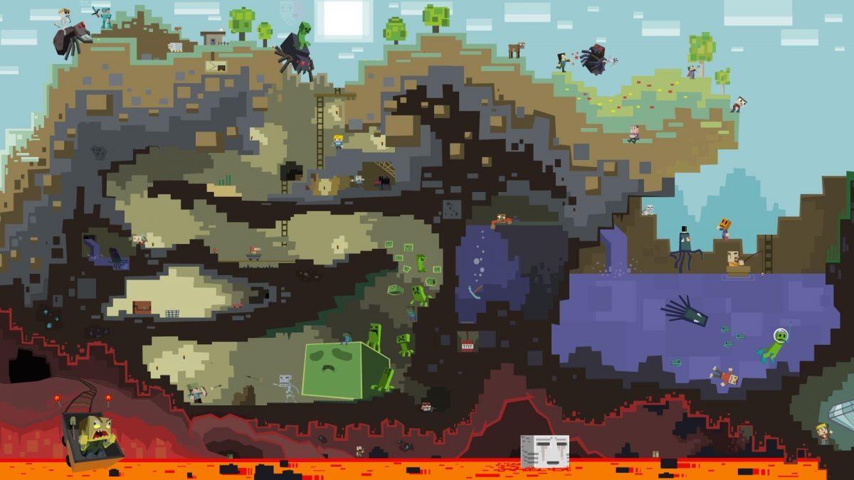 Fond d'écran Minecraft : Les souterrains