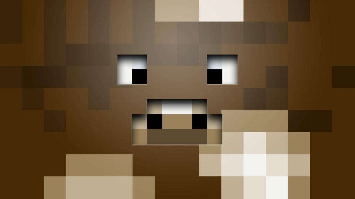 Fond d'écran Minecraft : une tête de vache