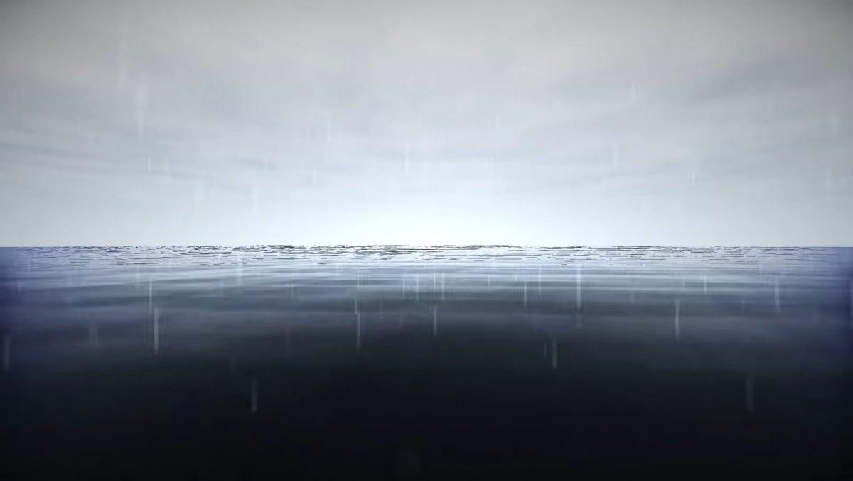 Kuda Shaders de la pluie sur l'océan