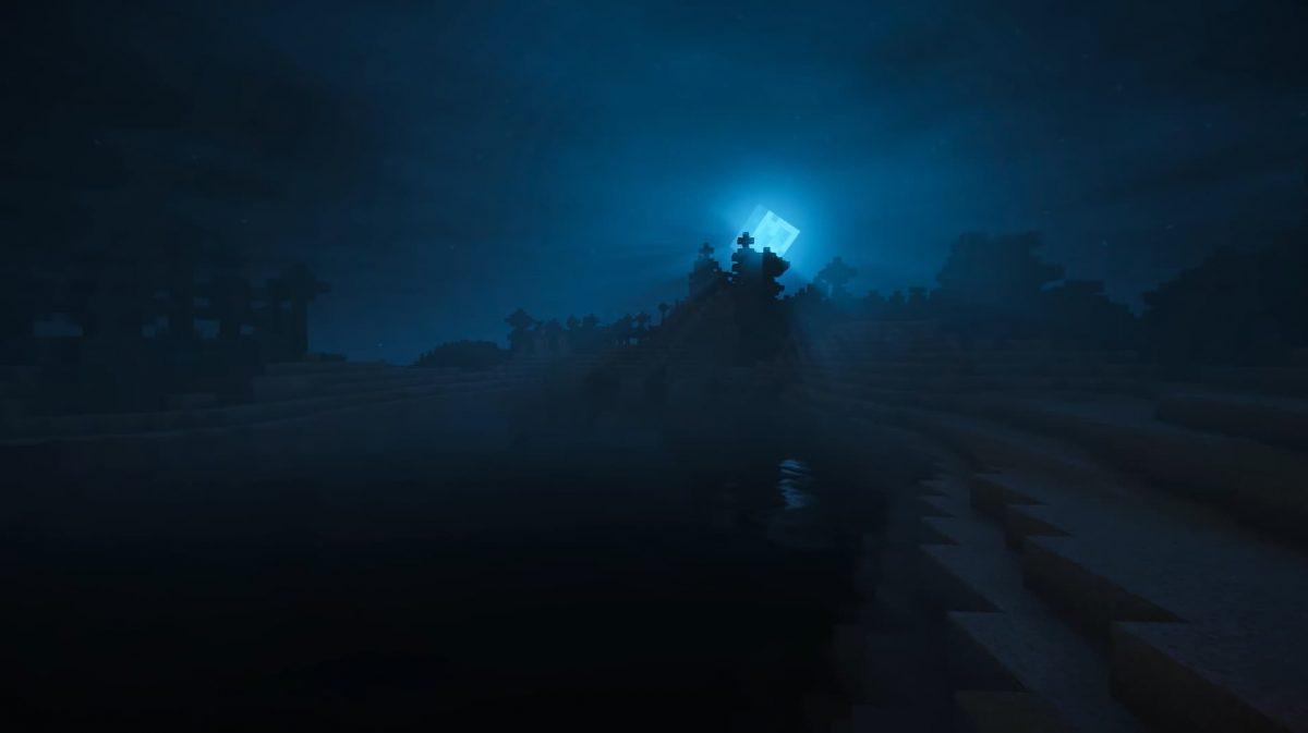 Kuda Shaders la lune pendant la nuit
