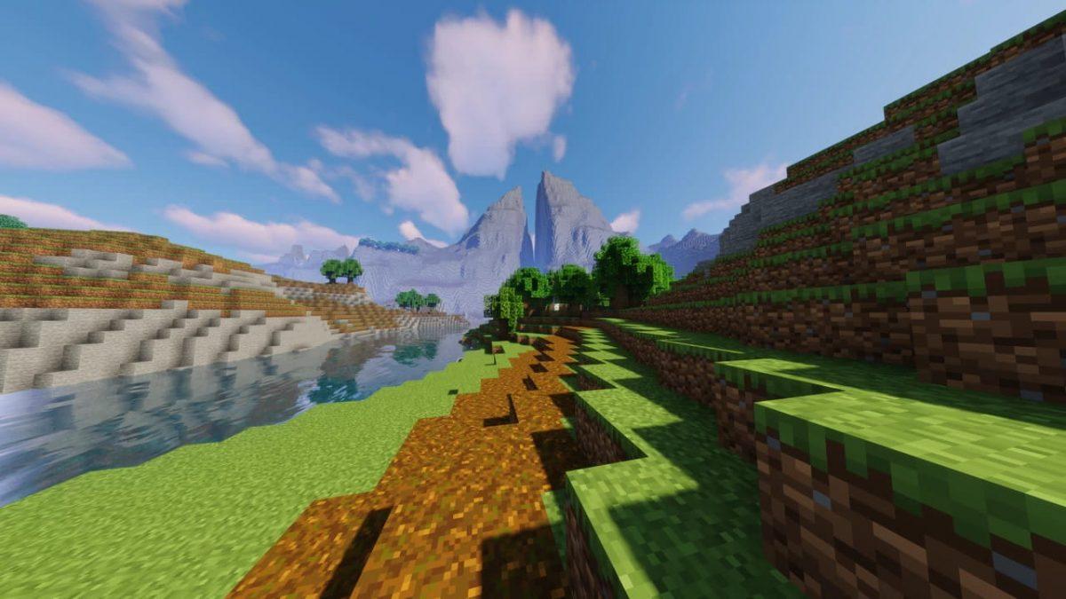 Les monts Géminés dans Minecraft