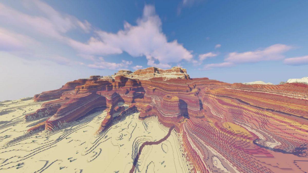 Les hauteurs de Gerudo dans Minecraft