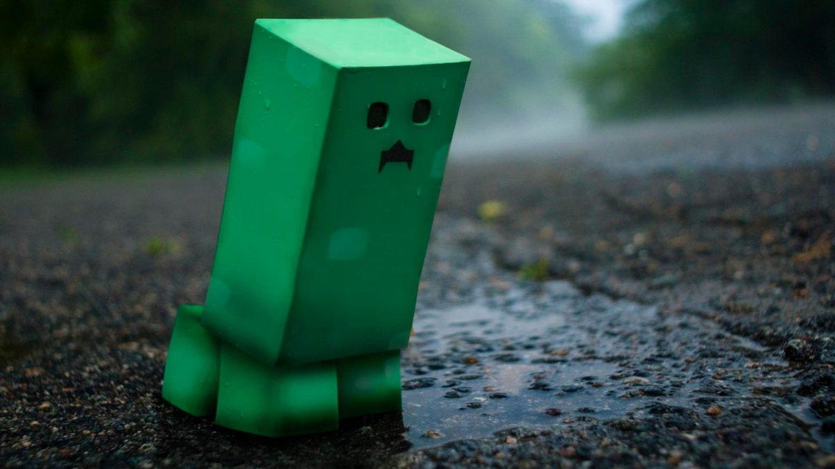 Fond d'écran Minecraft : creeper mignon