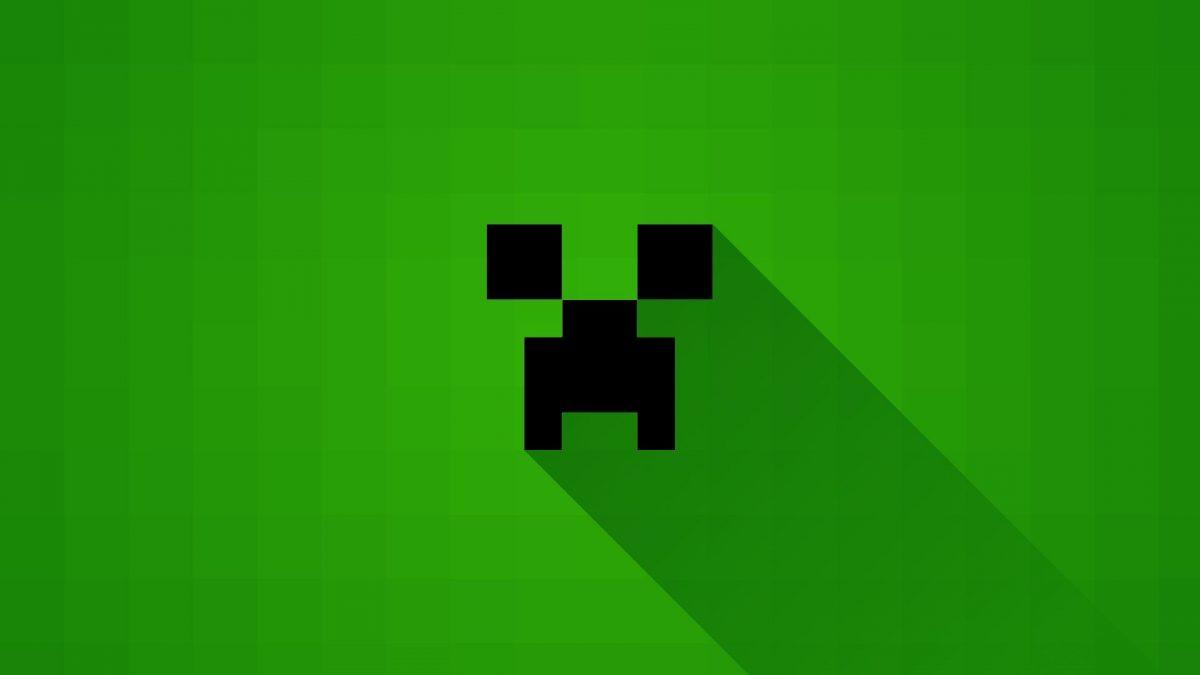 Fond d'écran Minecraft : creeper tête