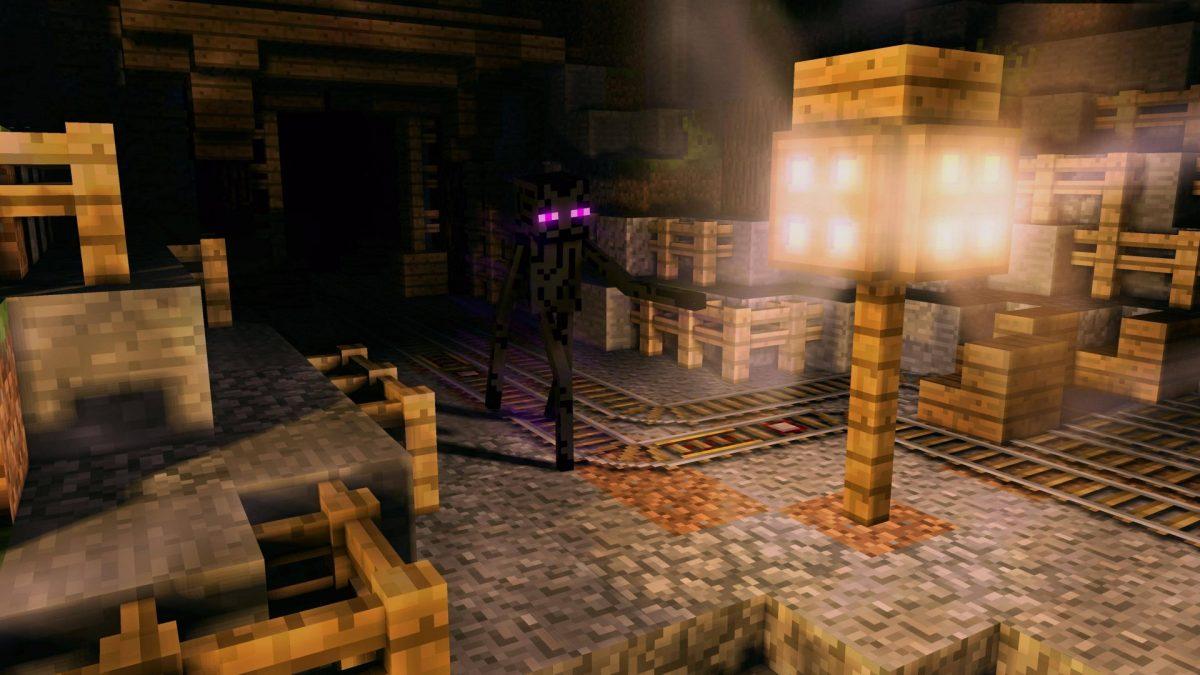 Fond d'écran Minecraft : enderman mine