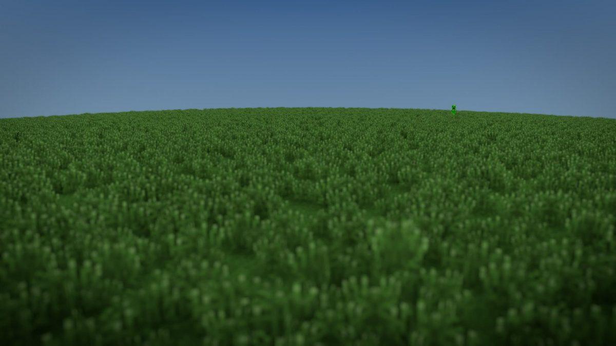 Fond d'écran Minecraft : herbe creeper verte
