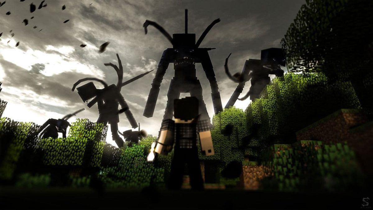 Fond d'écran Minecraft : horreur