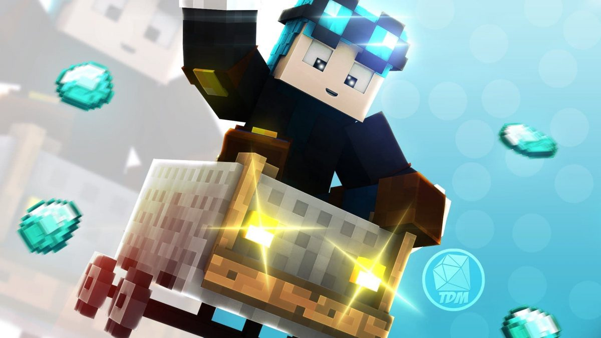 Fond d'écran Minecraft : course minecart