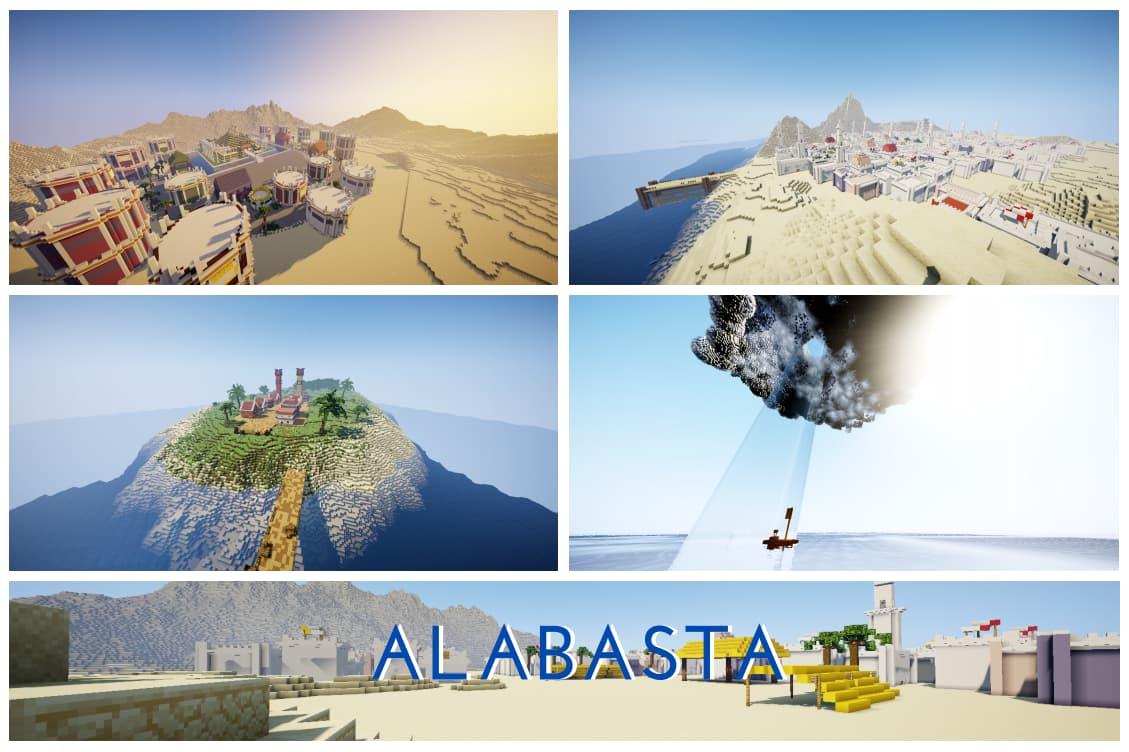 Alabasta map minecraft one piece