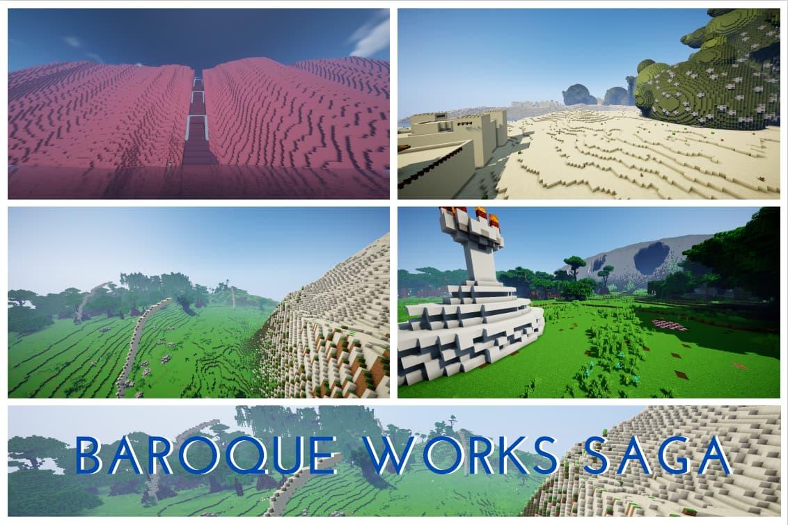 Barique Work Saga map minecraft one piece